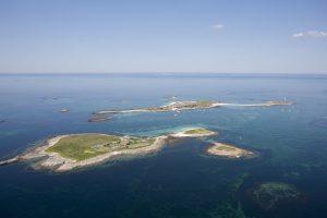 Photo aérienne de l'archipel des Glénan