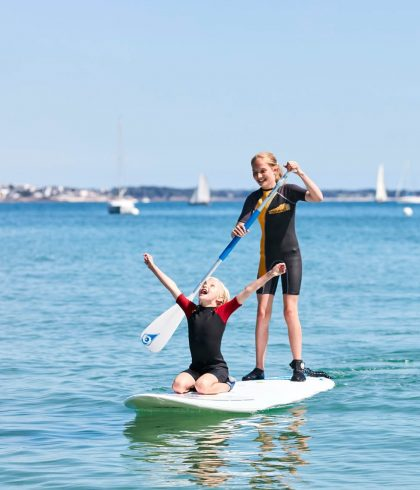 Séance de stand Up Paddle au Cap-Coz