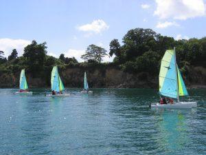 Activité nautique entre Beg-Meil et Cap-Coz