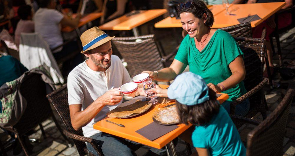 Déguster une crêpe à Fouesnant-les Glénan