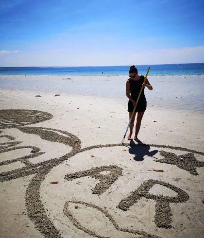 S'initier au Beach Art sur la plage