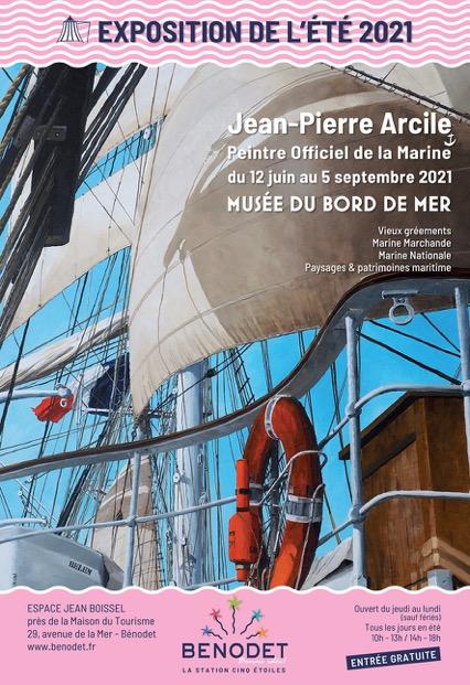 Musée du Bord de Mer : Jean Pierre ARCILE & Jacques COQUILLAY Peintres Officiels de la Marine