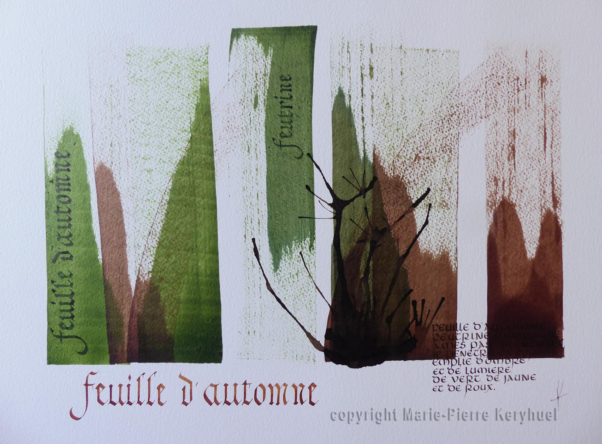 Exposition de calligraphies de Marie-Pierre Keryhuel