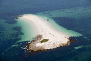 Le banc de sable de Guiriden sur l'archipel des Glénan